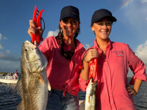 two women at the 2019 fishing rodeo